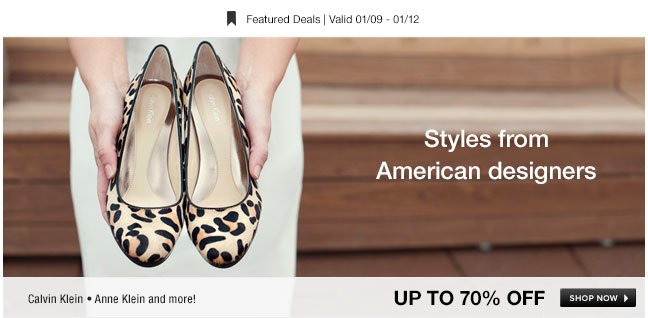 Styles from American designers