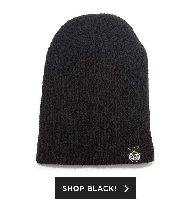 Shop Black Beanie!