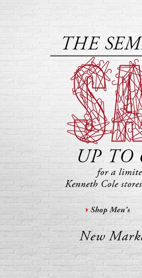 Up to 60% Off for a limited time only at Kenneth Cole stores and kennethcole.com. // Shop Men's