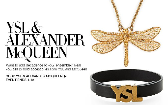 Shop YSL and Alexander McQueen Jewelry