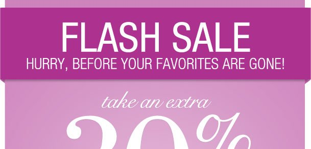 Flash Sale! Extra 30% off items from a Special Collection! Use RDSPECIAL