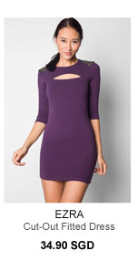 EZRA Cut-Out Fitted Dress
