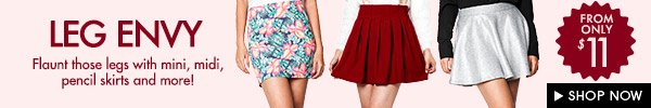 Skirts from $11
