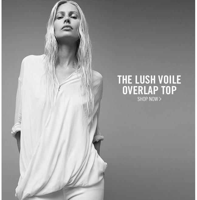 the lush voile - overlap top - shop now >