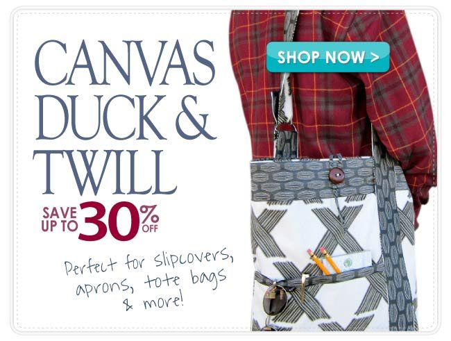 Up to 30% Off Twill, Canvas & Duck Home Decor Fabric