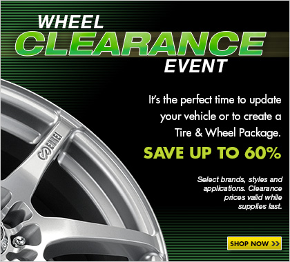 Wheel Clearance Event - Up to 60% off on a great selection of wheels