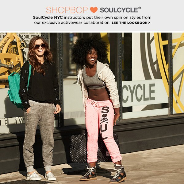 SoulCycle NYC instructors put their own spin on styles from our exclusive activewear collaboration.  >>