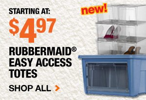 Rubbermaid Easy Access Totes