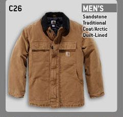 Men's Sandstone Traditional Coat/Arctic Quilt-Lined