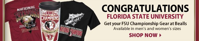 Get your FSU National Championship Gear