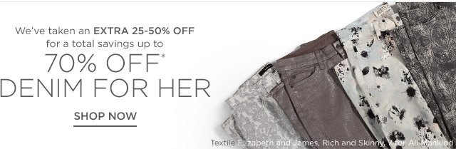 Up to 70% off Denim for her