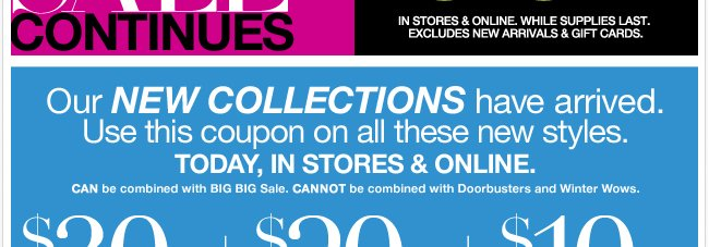 Plus, The Big Sale Continues!