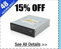 48 HOURS ONLY! 15% OFF SELECT SAMSUNG CD / DVD / BLU-RAY DRIVES!*