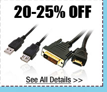 20-25% OFF SELECT CABLES