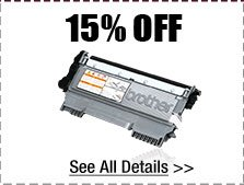 15% OFF ALL TONERS!*