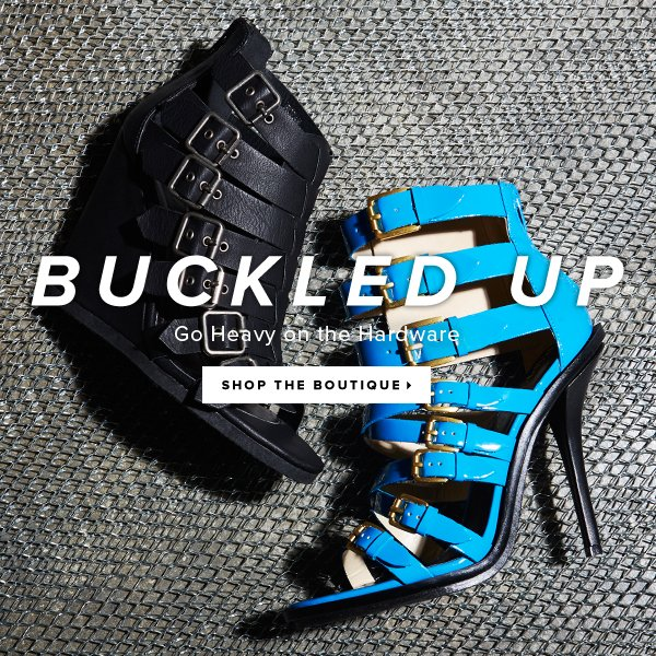 Buckled Up Go Heavy on the Hardware - - Shop the Boutique: