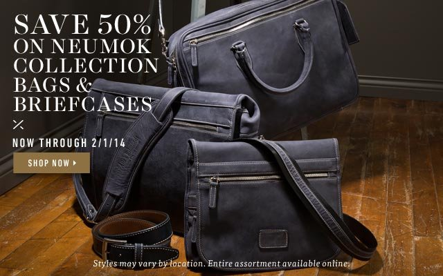 Save 50% on Neumok Collection Bags & Briefcases. Shop Now >