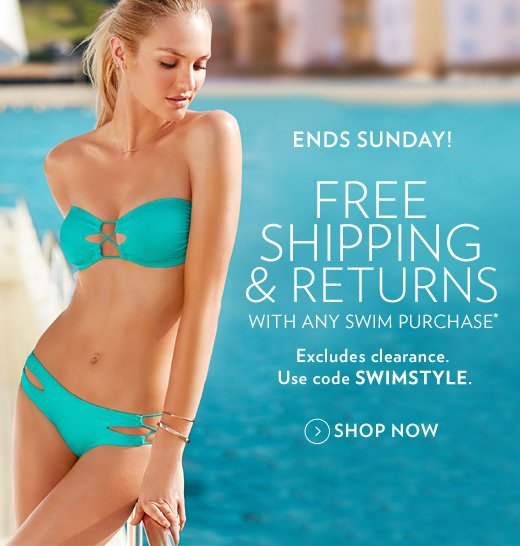 Free Shipping & Returns with Any Swim Purchase