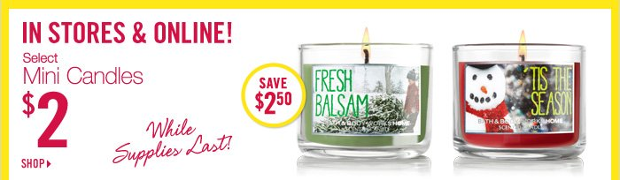 Select Mini Candles – $2