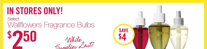 Wallflowers Fragrance Bulbs – $2.50