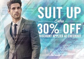 Shop New Year, Suit Up: Extra 30% Off