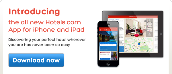 Introducing the all new Hotels.com App for iPhone and iPad Discovering your perfect hotel wherever you are has never been so easyDownload now