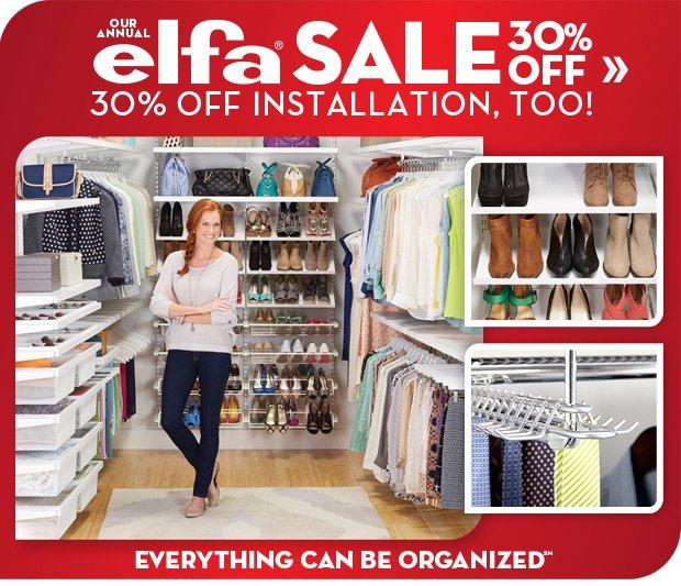 elfa SALE 30% OFF