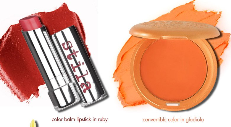 color balm lipstick in ruby and convertible color in gladiola