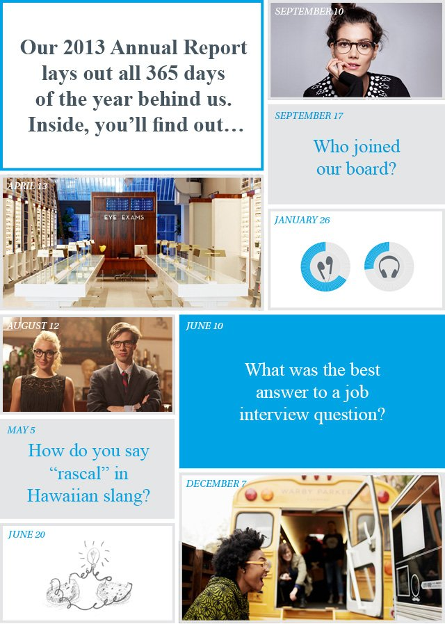The Warby Parker 2013 Annual Report