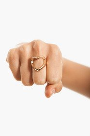 Heart Cutout Ring 7