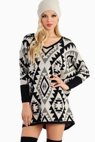 Emmy Aztec Oversized Sweater 47
