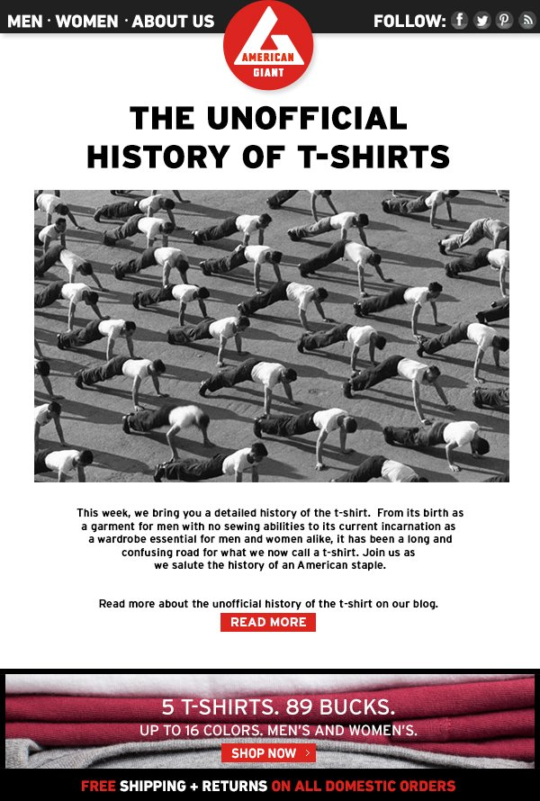 The Unofficial History of the T-Shirt