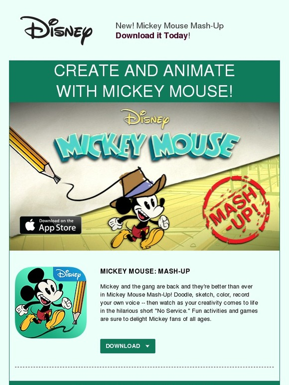 Disney Store: Download the NEW Mickey Mouse Mash-Up App | Milled