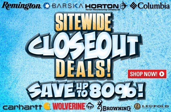 Sportsman's Guide's Sitewide Closeout Deals! Save Up To 80%!