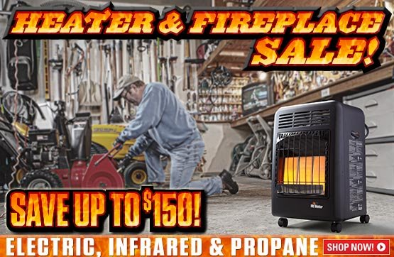 Sportsman's Guide's Heater & Fireplace Sale! Save Up To $150!