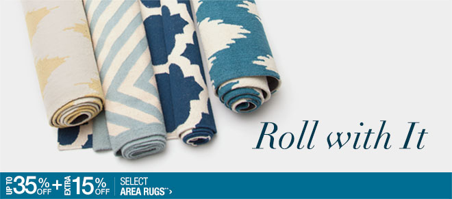 Up to 35% off + Extra 15% off Select Area Rugs**