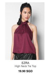 EZRA High Neck Tie Top