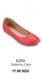 EZRA Flower Laser Cut Ballerina Flats