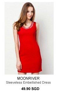 MOONRIVER Daisy Sleeveless Embellished Dress