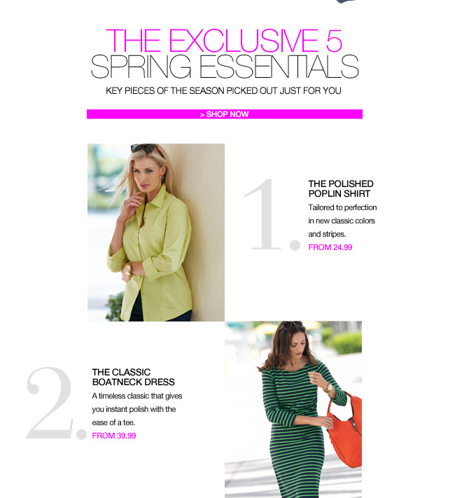 The Exclusive 5 - Spring Essentials