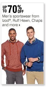 60-70% off Men's sportswear from Izod®, Ruff Hewn, Chaps and more