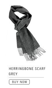 Herringbone Scarf Grey