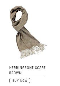 Herringbone Scarf Brown