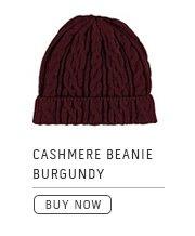 Cashmere Beanie Burgundy