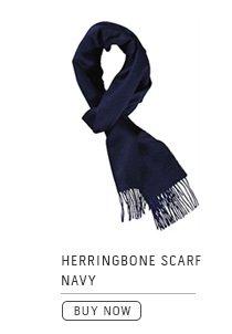 Herringbone Scarf Navy