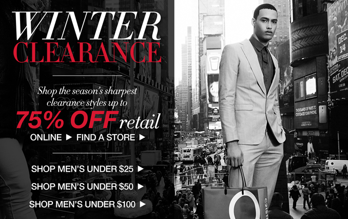 Shop Winter Clearance Up to 75% Off
