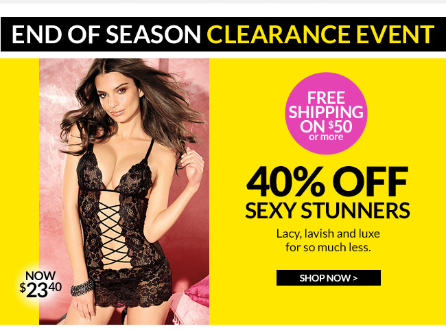 An extra 50% off Clearance. 40% off our hottest styles. Don't miss End-of-Season Clearance. Plus, a free gift.