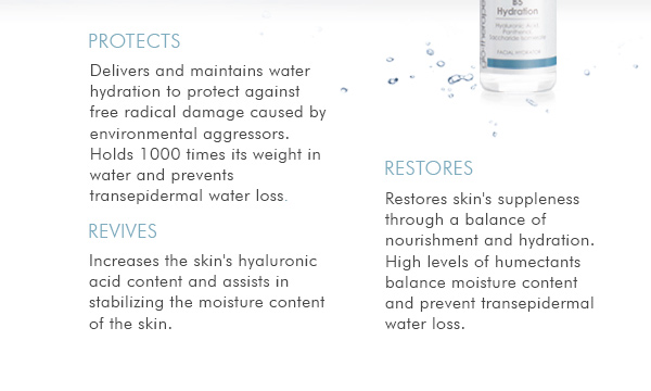 B5 Hydration protects, revives, and restores.