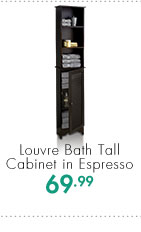 Louvre Bath Tall Cabinet in Espresso  69.99