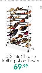 60-Pair Chrome Rolling Shoe Tower  69.99